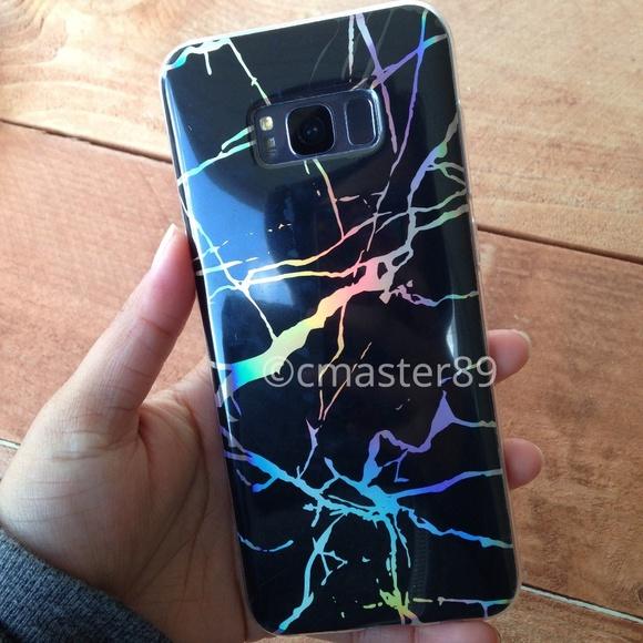 Cas Holographique Banane Pour Samsung Galaxy S8, Plus
